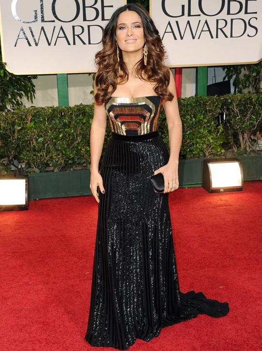 Salma Hayek @ 2012 Golden Globes Awards