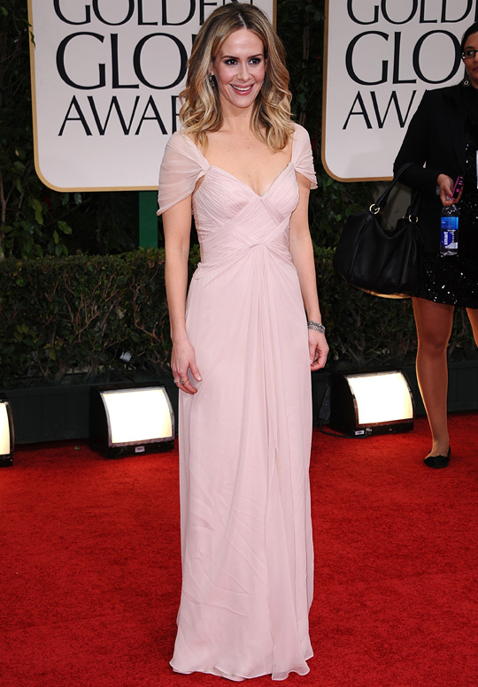 Sarah Paulson @ 2012 Golden Globes Awards