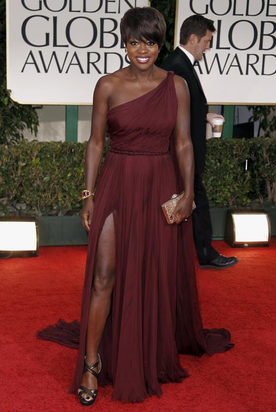 Viola Davis @ 2012 Golden Globes Awards