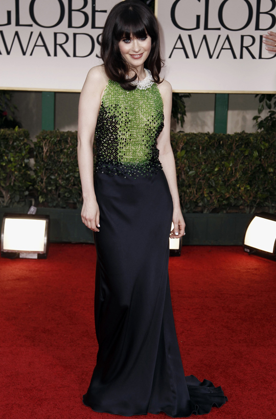 Zooey Deschanel @ 2012 Golden Globes Awards