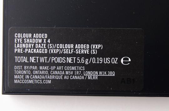 MAC Colour Added Eyeshadow Quad