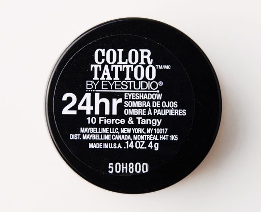 Maybelline Fierce & Tangy Color Tattoo 24 Hour Eyeshadow