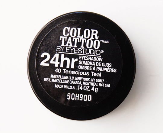 Maybelline Tenacious Teal Color Tattoo 24 Hour Eyeshadow