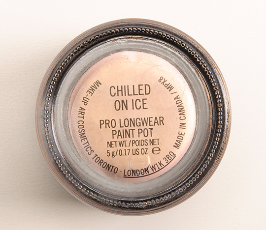 mac chilled on pro longwear paint pot review photos swatches