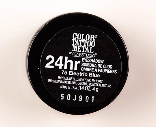 Maybelline Electric Blue Color Tattoo Metal Eyeshadow
