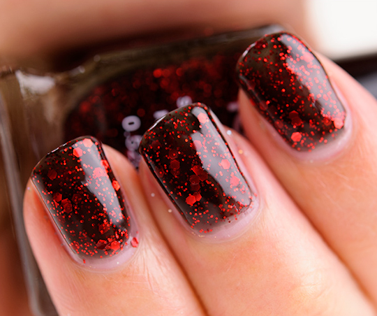 Nyx Dark Glitter Nps 217 Nail Lacquer Review Photos Swatches