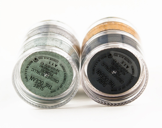 MAC Surf the Ocean Crushed Metallic Pigment Stack