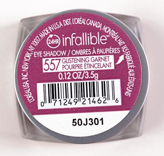 L'Oreal Glistening Garnet Infallible Eyeshadow