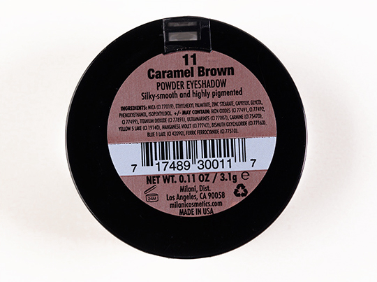 Milani Caramel Brown Powder Eyeshadow