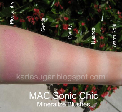 MAC Sonic Chic Blush Swatches #1