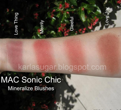 MAC Sonic Chic Blush Swatches #2