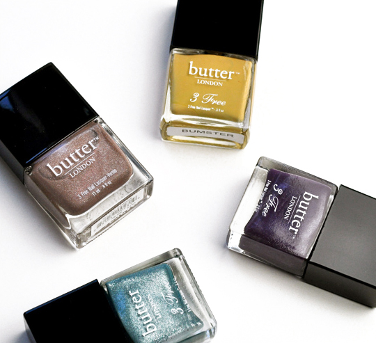 butter LONDON All Hail McQueen, Bumster, Marrow, Victoriana Reviews, Photos, Swatches