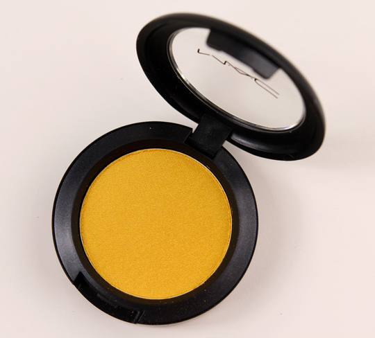 MAC Sunny Outlook Pro Longwear Eyeshadow Review & Swatches
