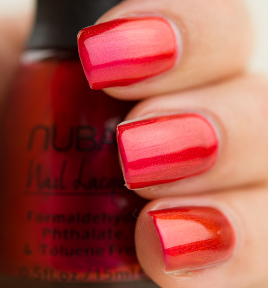 Nubar Pink Flame Nail Lacquer Review Swatches