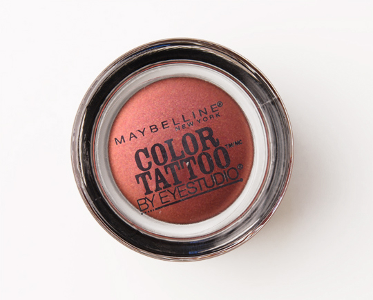Maybelline Pomegranate Punk Color Tattoo 24 Hour Eyeshadow Review ...