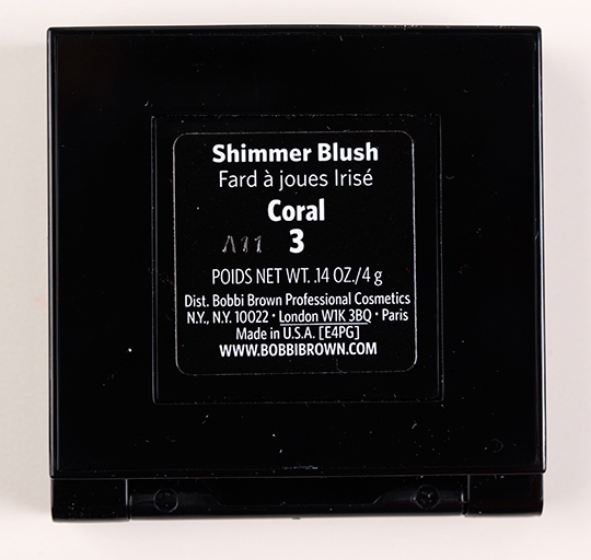 Bobbi Brown Coral Shimmer Blush