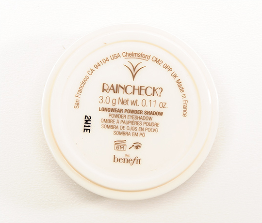 Benefit Rain Check Longwear Powder Eyeshadow