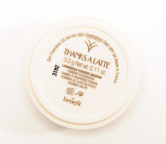 Benefit Thanks a Latte Longwear Powder Eyeshadow