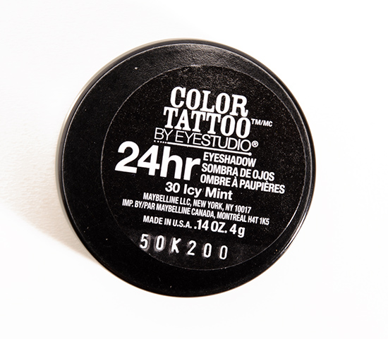 Maybelline Icy Mint Color Tattoo 24 Hour Eyeshadow