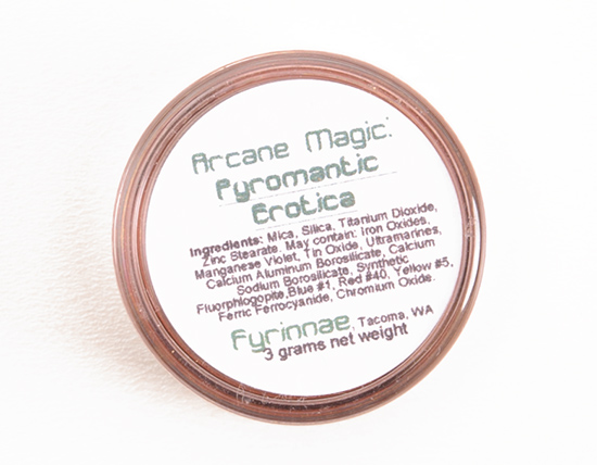Fyrinnae Arcane Magic: Pyromantic Erotica Eyeshadow