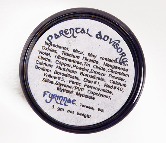 Fyrinnae Parental Advisory Eyeshadow