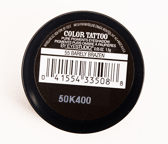 Maybelline Barely Brazen Color Tattoo Pure Pigments