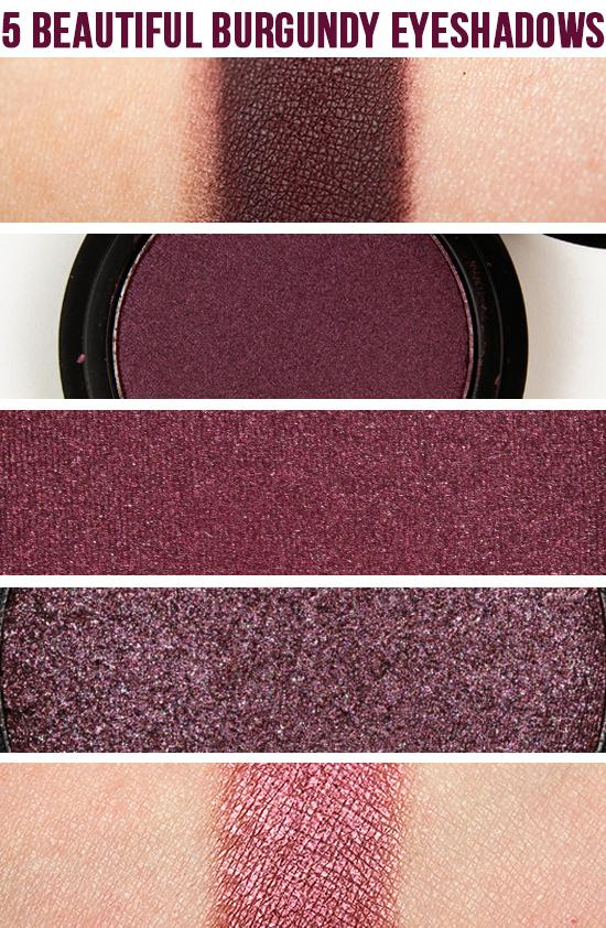 Burgundy Matte Stiletto Nails With Glossy Tips: 5 Beautiful Burgundy Eyeshadows