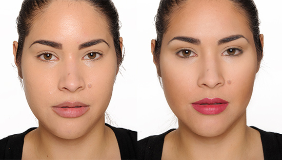 how to contour highlight with cream foundation