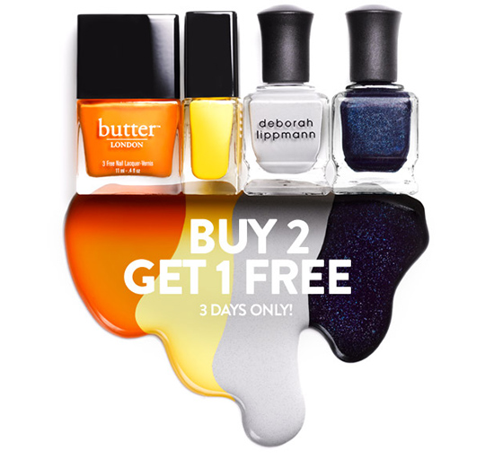 Nordstrom Buy 2, Get 1 Free on Deborah Lippmann & Butter London Polishes August 2nd through August 4th!
