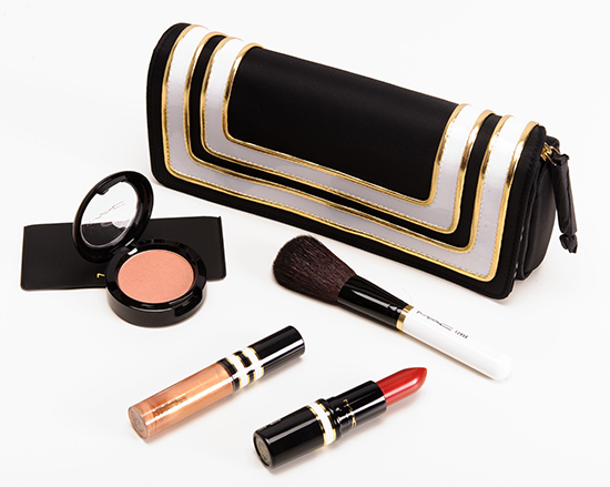 MAC Stroke of Midnight/Coral Lip & Cheek Bag