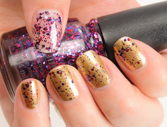 China Glaze Be Merry, Be Bright over Mingle with Kringle Nail Lacquer