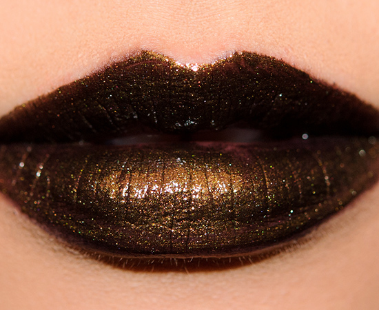 MAC Hautecore with Illamasqua Wanderlust on top
