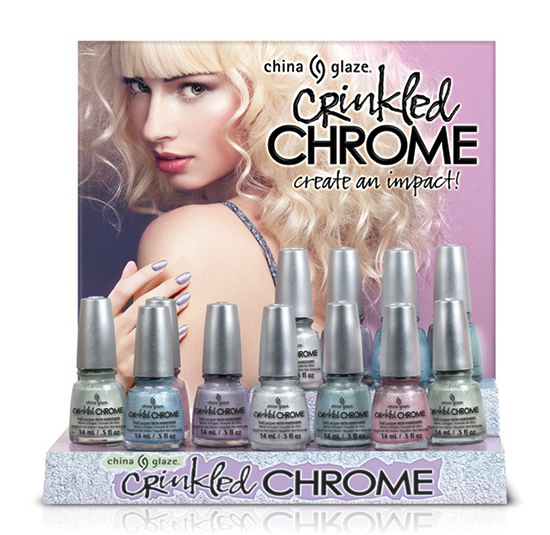 China Glaze Crinkled Chrome Collection for Spring 2014