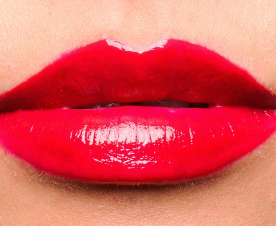 MAC Glam Lipglass over Glam Lipstick