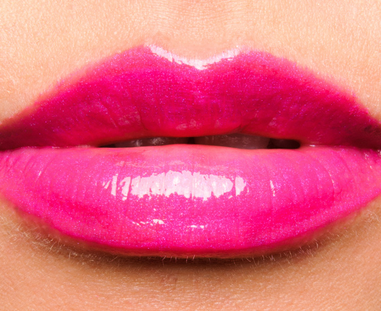 MAC Pink Poodle (By Request) Lipglass over Pink Poodle (By Request) Lipstick