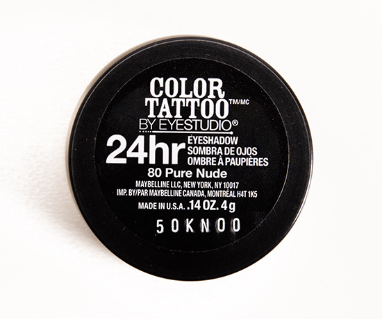 Maybelline Pure Nude (80) Color Tattoo Eyeshadow