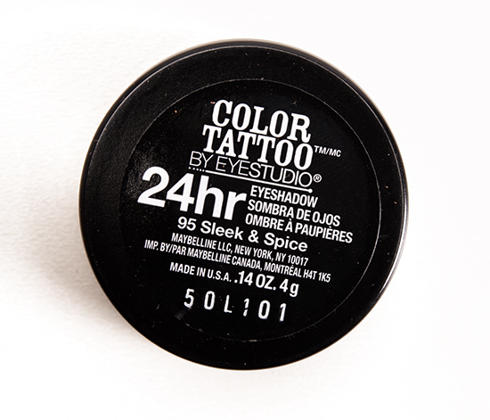 Maybelline Sleek & Spice (95) Color Tattoo Eyeshadow