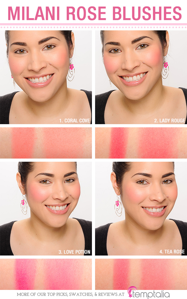 Milani Rose Powder Blush Comparisons