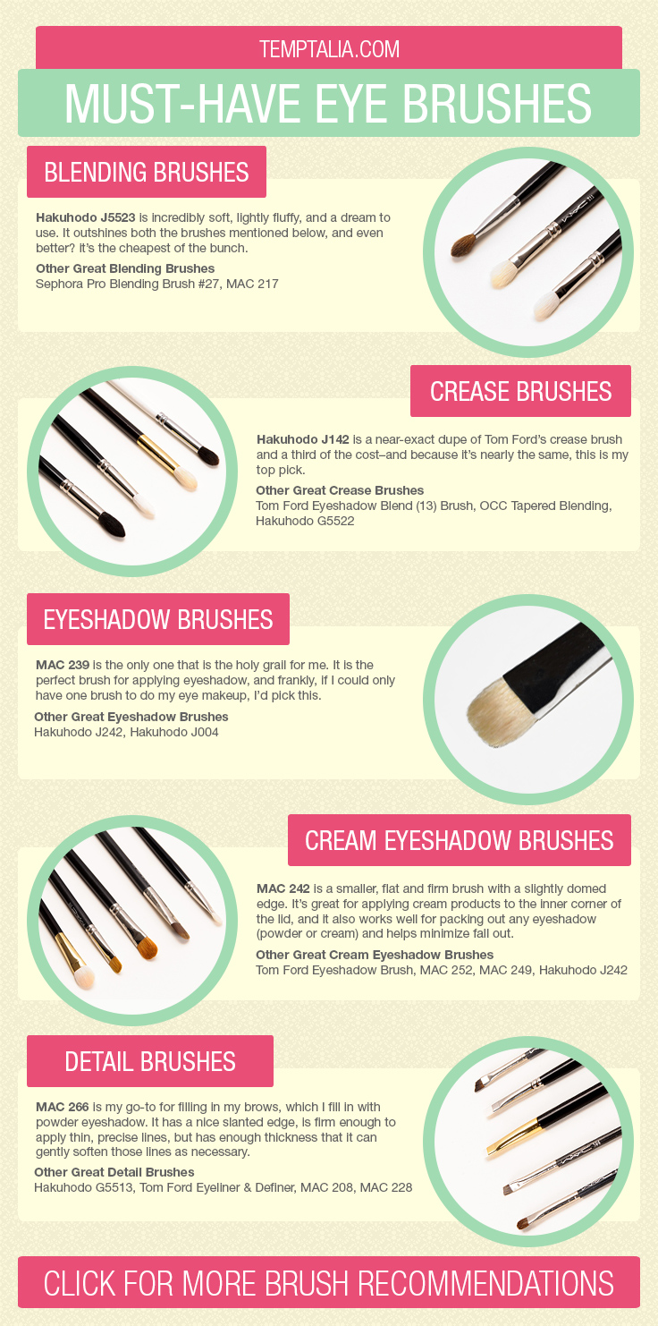 Must Have Makeup Brushes: Must-Have Eye Makeup Brushes