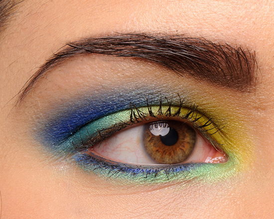 Urban Decay Electric Pressed Pigment Palette Look
