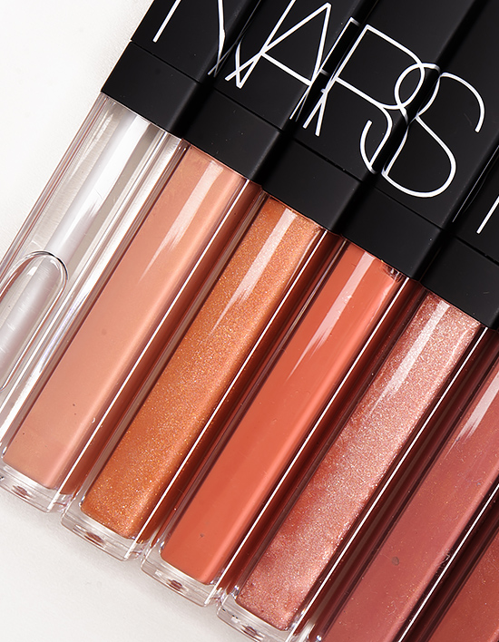 NARS Lipgloss – Triple X, Striptease, Greek Holiday, Giza, Sweet Dreams