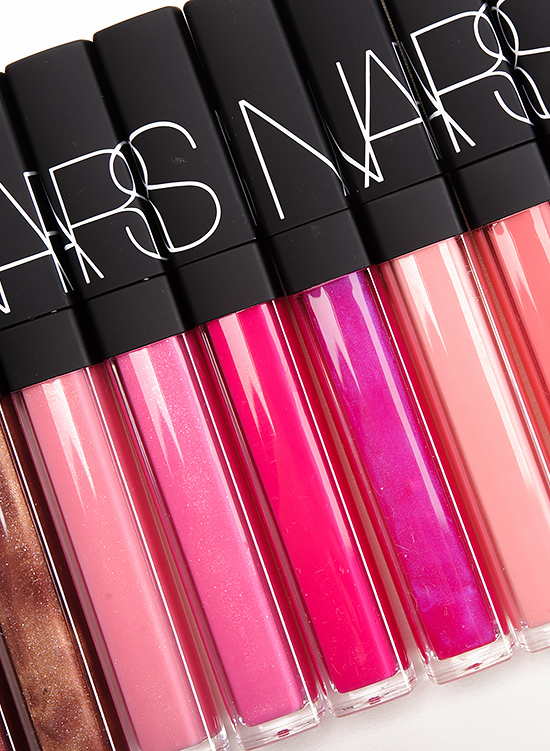 NARS Lipgloss – Supervixen, Istria, Angelika, Priscilla, Easy Lover, Turkish Delight