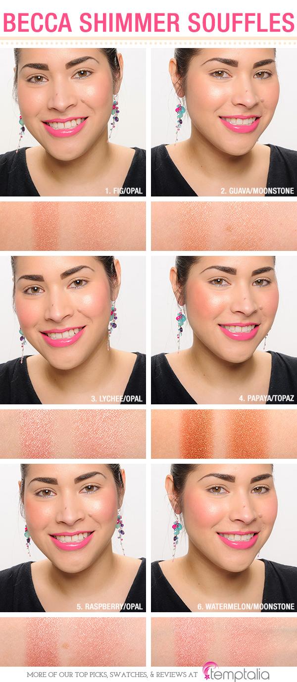 Becca Beach Tint Shimmer Cheek Souffles