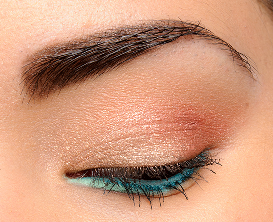 Neutral Eyes with Teal Eyeliner