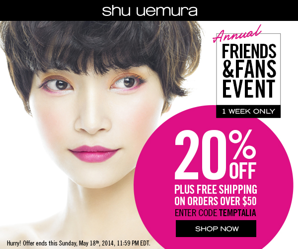 Get 20% OFF plus free shipping on orders of $50 or more - code TEMPTALIA (valid 5/12-5/18)