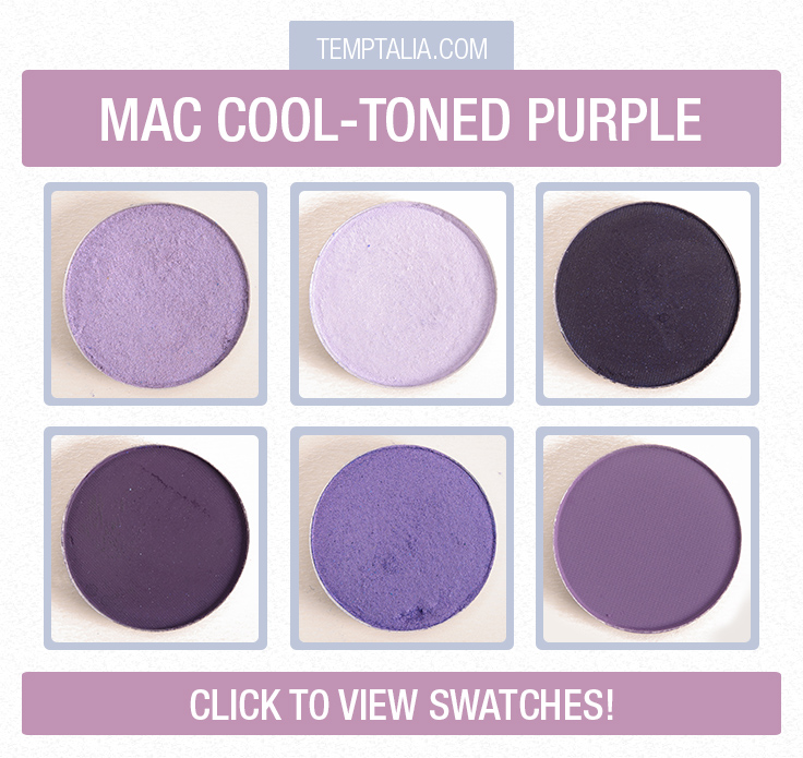 Mac Cooler Toned Purple Eyeshadows Photos Swatches