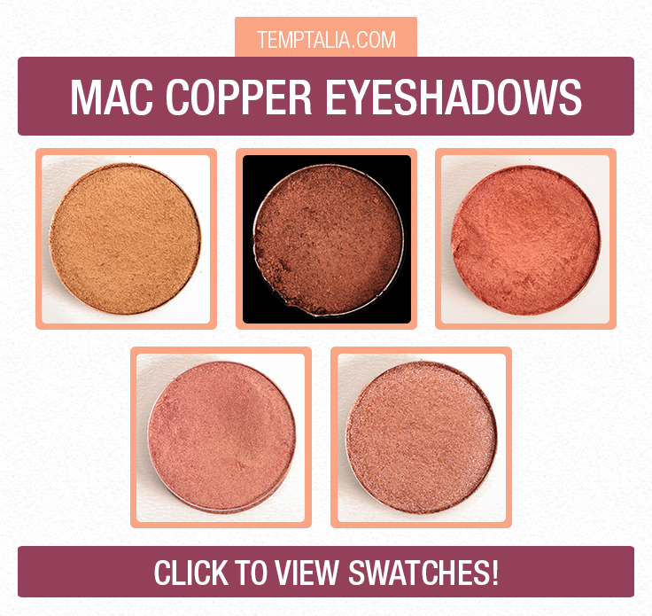 Mac Copper Eyeshadows Photos Swatches