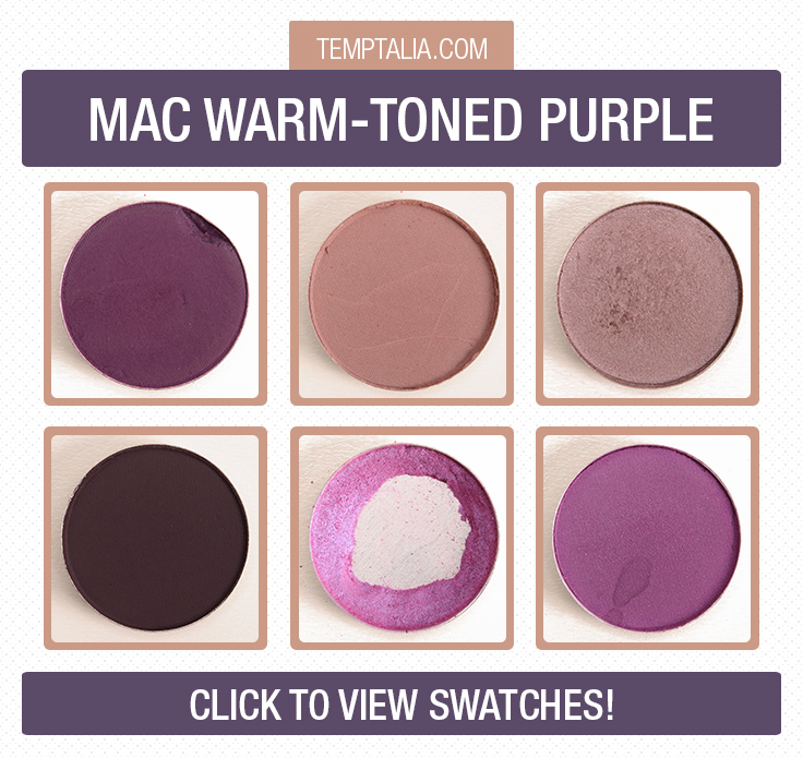 MAC Warm-Toned Purple Eyeshadow Swatches