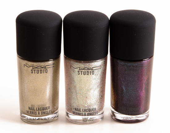 MAC Screaming Bright, Silver Dew, Formidable Studio Studio Nail Lacquers