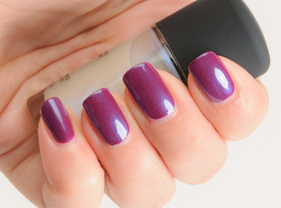 MAC Highlight over Rebel Nail Lacquer